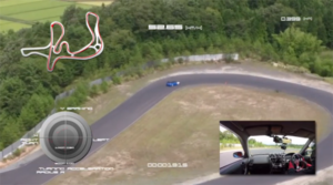 TSタカタサーキットの走行の様子をドローンで撮影